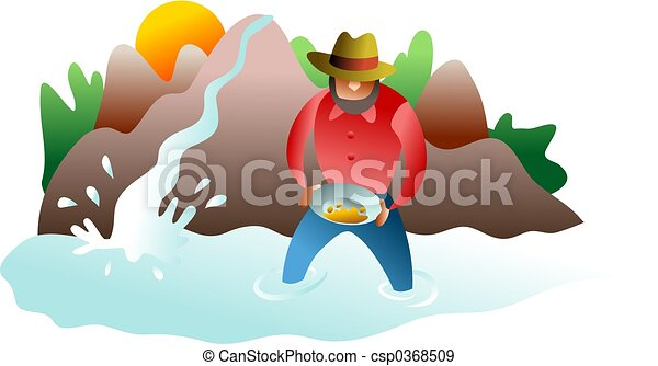 panning for gold - csp0368509