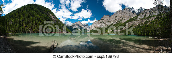 Pano of Kinney Lake in British Columbia - csp5169798