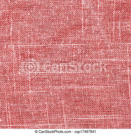 pano, textura, fundo, vermelho - csp17497841