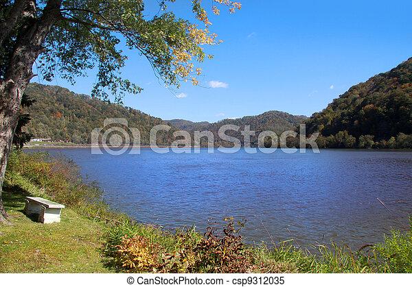 panorâmico, lago - csp9312035