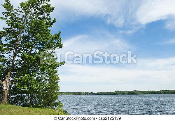 panorâmico, lago - csp2125139