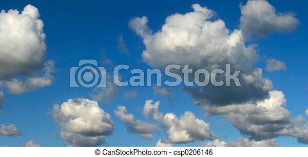 panorama, cielo luminoso - csp0206146