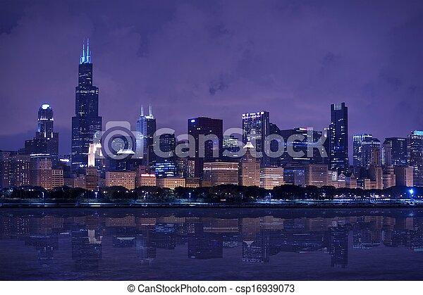 Chicago skyline panorama - csp16939073