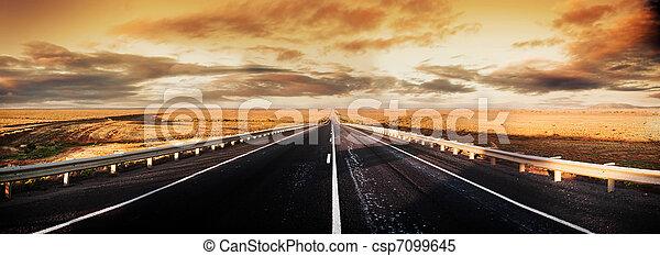 panorama, estrada - csp7099645