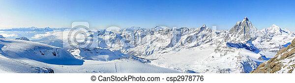 panorama, kl., matterhorn - csp2978776