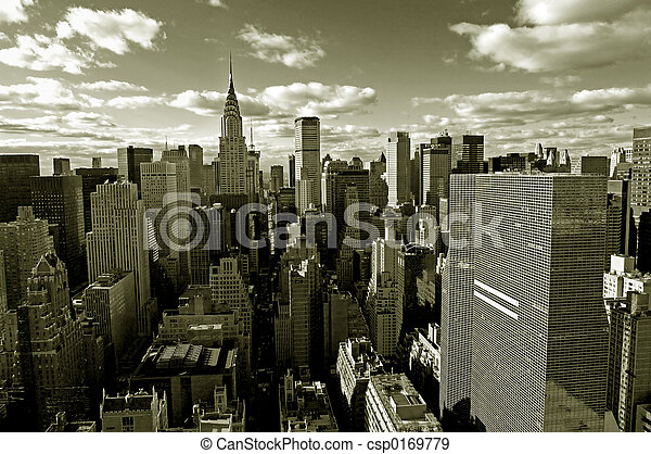 Un panorama de Manhattan - csp0169779