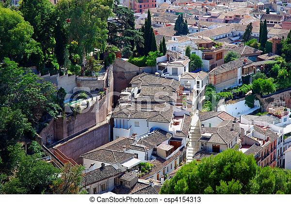 Panorama of Andalusian town - csp4154313