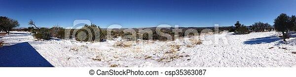 Panorama of Arizona Desert - csp35363087