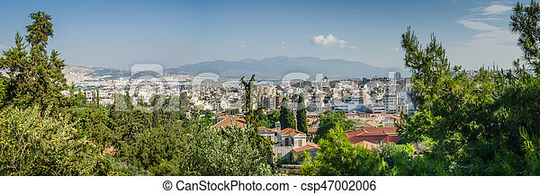 Panorama of Athens and ancient ruins, Greece. - csp47002006