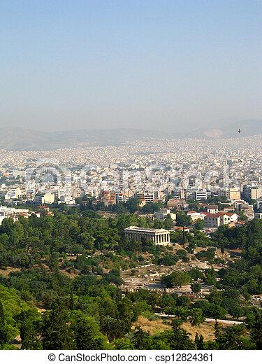 Panorama of Athens, capital of Greece - csp12824361