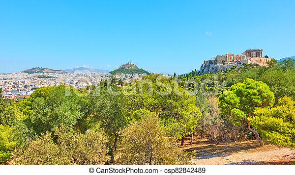 Panorama of Athens city - csp82842489