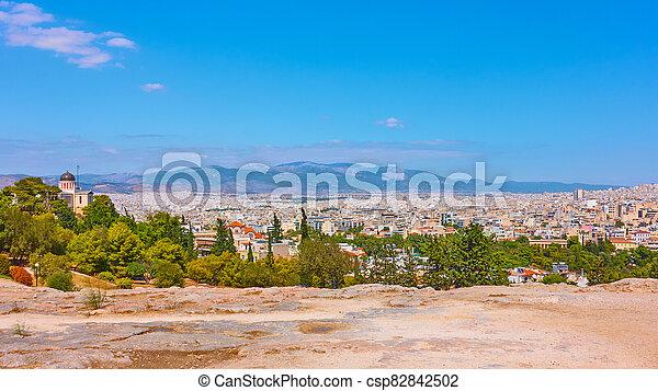 Panorama of Athens city - csp82842502