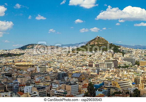 Panorama of Athens, Greece - csp29030543