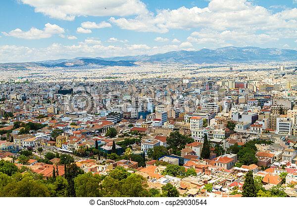 Panorama of Athens, Greece - csp29030544