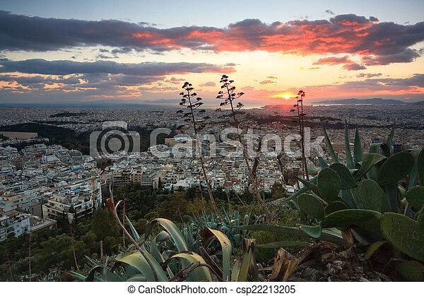 Panorama of Athens, Greece. - csp22213205