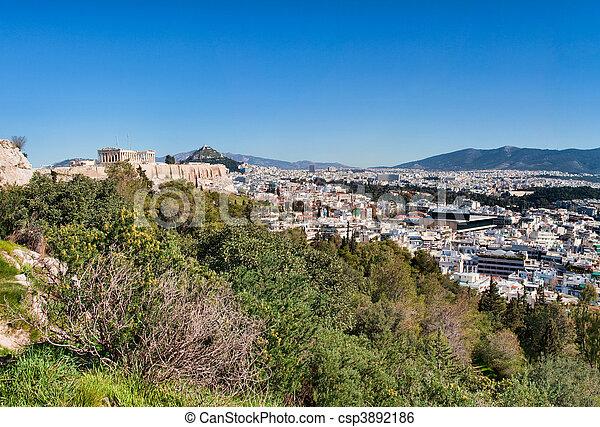 Panorama of Athens - csp3892186
