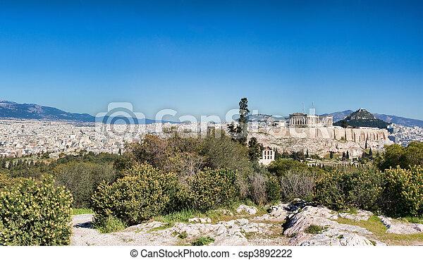 Panorama of Athens - csp3892222