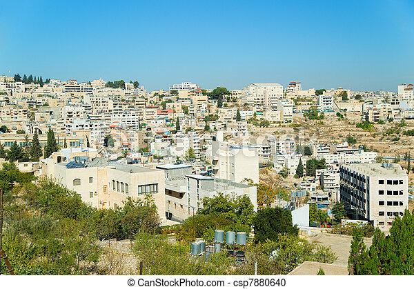 Panorama of Bethlehem, Palestine, Israel - csp7880640