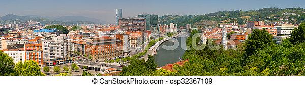 Panorama of Bilbao - csp32367109