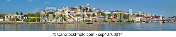Panorama of Budapest in the morning - csp40788014