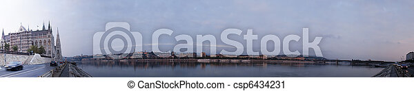 Panorama of Budapest in the morning time - csp6434231