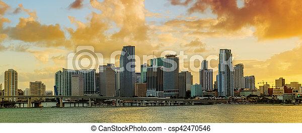 Panorama of Downtown Miami, Florida - csp42470546