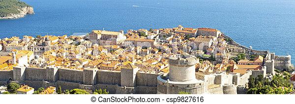 Panorama of Dubrovnik old town. - csp9827616