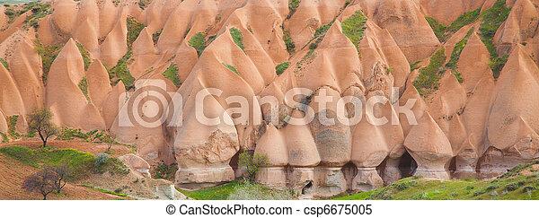 Panorama of Fairy Chimneys - csp6675005