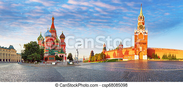Panorama of Kremlin, red square in Moscow, Russia - csp68085098