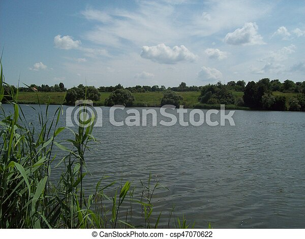 Panorama of lakes, rivers and water - csp47070622