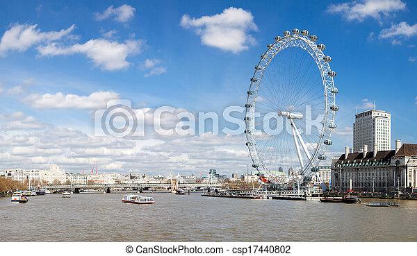 Panorama of London Eye - csp17440802