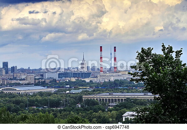 panorama of Moscow - csp6947748