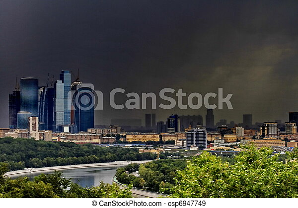 panorama of Moscow - csp6947749