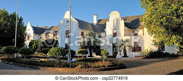Panorama of Oliewenhuis Art Museum in Bloemfontein, South Africa - csp22774919