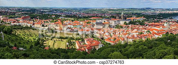 panorama of Prague - csp37274763
