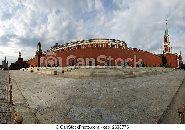 Panorama of Red Square on a summer day, Moscow, Russia - csp12630776
