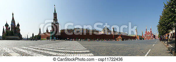 Panorama of Red Square on a summer day, Moscow, Russia - csp11722436
