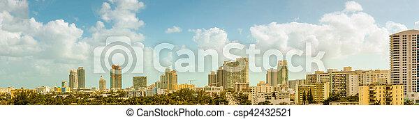 Panorama of South Beach - csp42432521