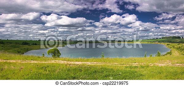 panorama of the lake - csp22219975
