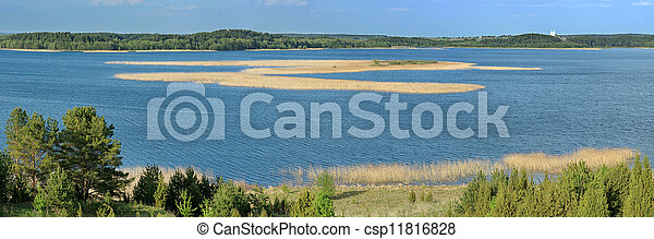 Panorama of the lake. - csp11816828