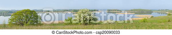 Panorama of the lake. - csp20090033
