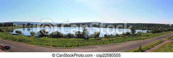 Panorama of the lake. Zelenogorsk - csp22580555