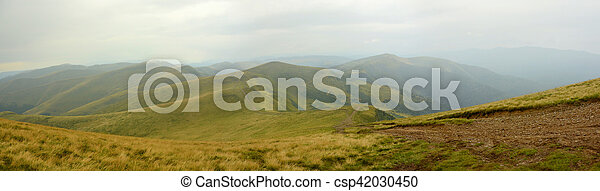 panorama of the mountains - csp42030450
