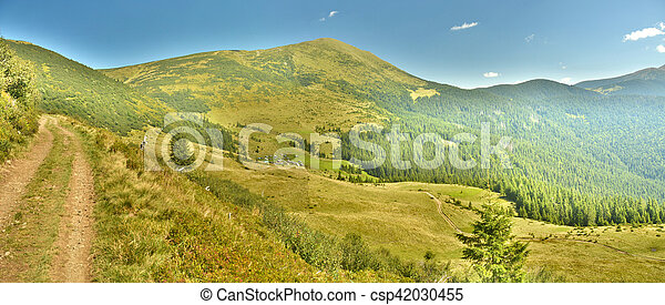 panorama of the mountains - csp42030455