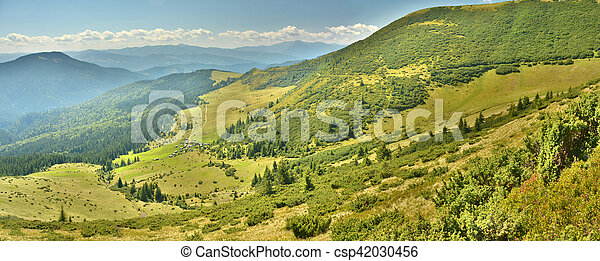 panorama of the mountains - csp42030456