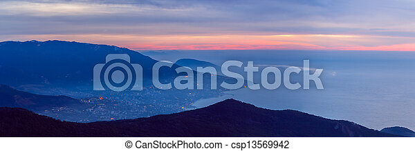 Panorama of the mountains - csp13569942