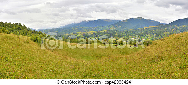panorama of the mountains - csp42030424