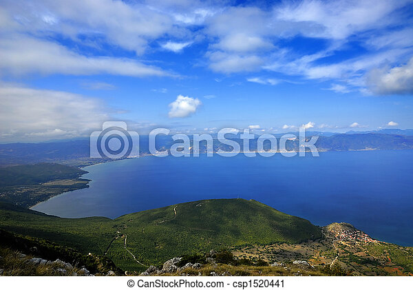 Panorama of the Ohrid lake - csp1520441
