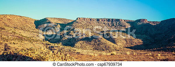 Panorama of the Open Desert - csp67939734