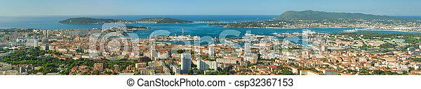 Panorama of Toulon - csp32367153